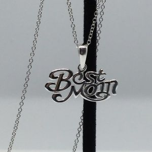 """Jewelry - Sterling Silver """"Best Mom"""" Pendant and Chain"""